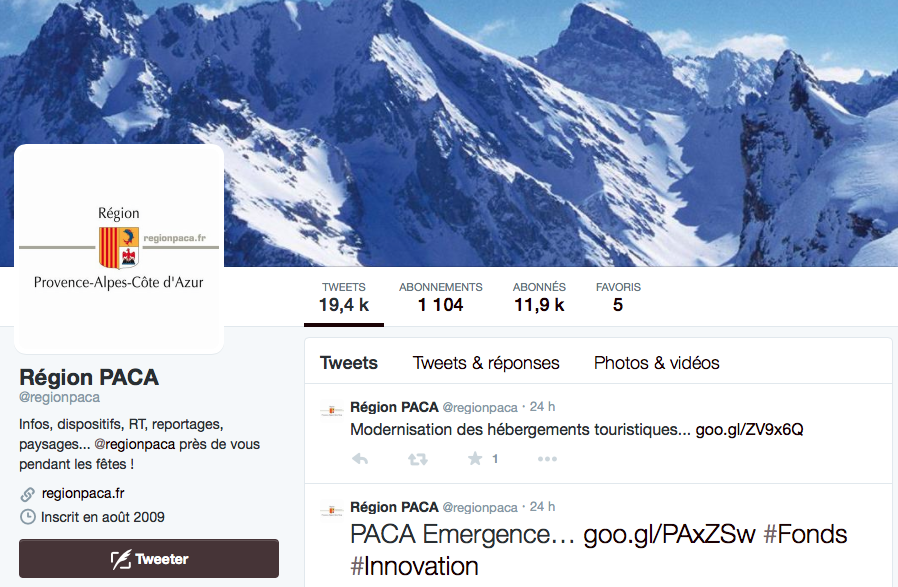 twitter region paca
