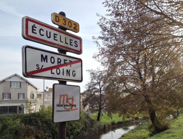 Un quatrième panneau, celui d'Orvanne commune nouvelle, devrait faire son apparition en 2015 - Crédits : Aurélien Accart - Radio France/ CC by SA