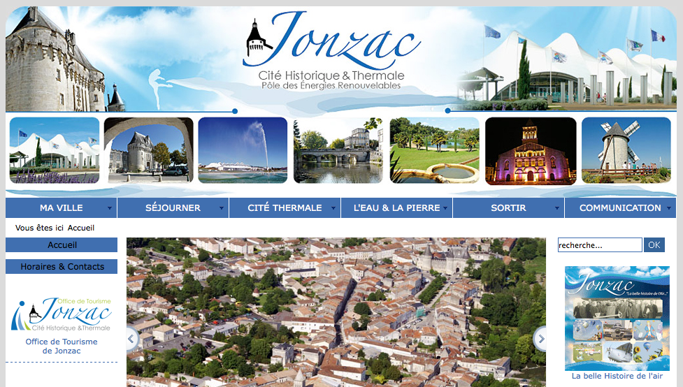 Site officiel de la ville Jonzac