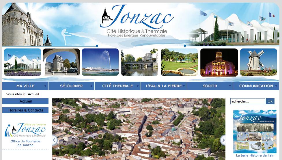 Site officiel de la ville Jonzac
