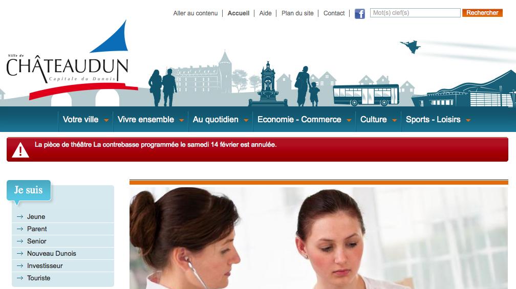 Site officiel de la ville de Chateaudun