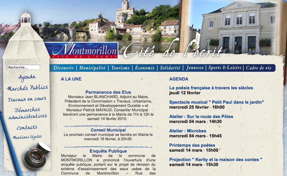 Site internet officiel de la ville de Montmorillon