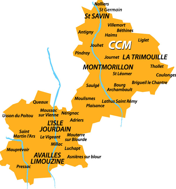 Composition de la Communauté de Communes de Montmorillon