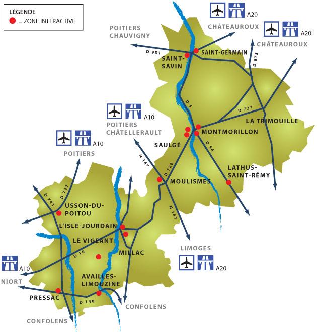 Zones d'activités de la Communauté de Communes du Montmorillonnais