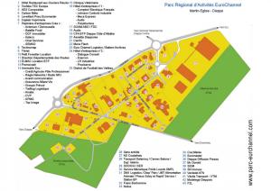 Plan du parc d'activités d'intérêt régional eurochannel, en Haute-Normandie