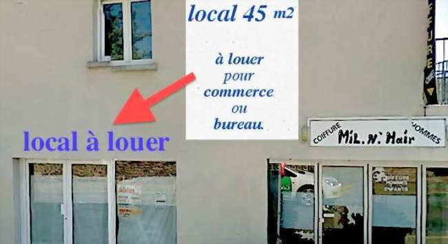 Local commercial 45 m2 en centre ville à louer
