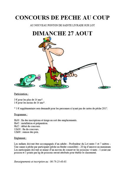 Concours de p che au coup sainte livrade sur lot 47110 p che - Concours de peche au coup ...