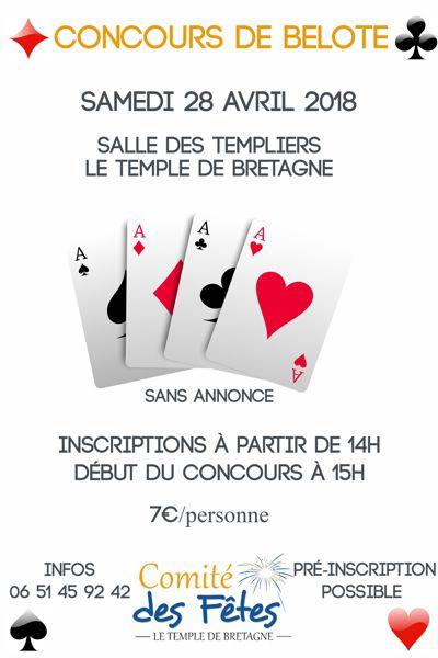 Concours De Belote Temple De Bretagne 44360 Jeux De Cartes