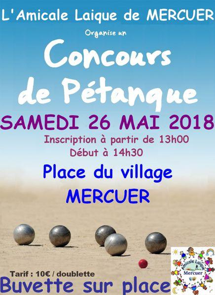 Concours de Pétanque   Mercuer (7200)   Pétanque