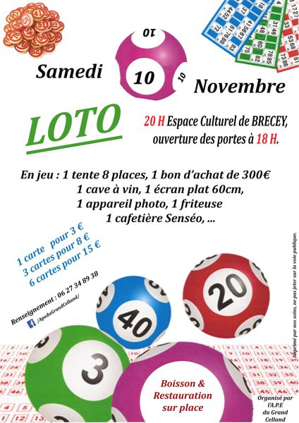 Loto de l'APE du Grand-Celland