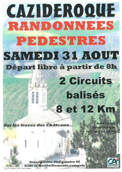 Calendrier Randonnee Pedestre Lot Et Garonne.Randonnees Pedestres Cazideroque 47370 Nature