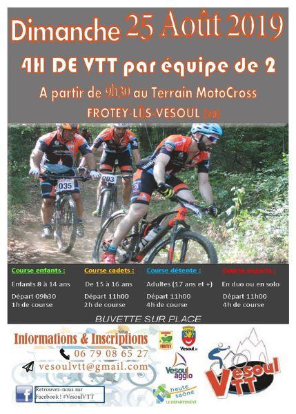 4h De Vesoul Vtt 4eme Edition Frotey Les Vesoul 70000