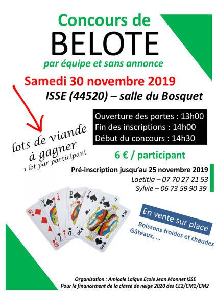 Concours Belote Par Equipe Sans Annonce Isse 44520 Sports Et Loisirs Jeux De Cartes