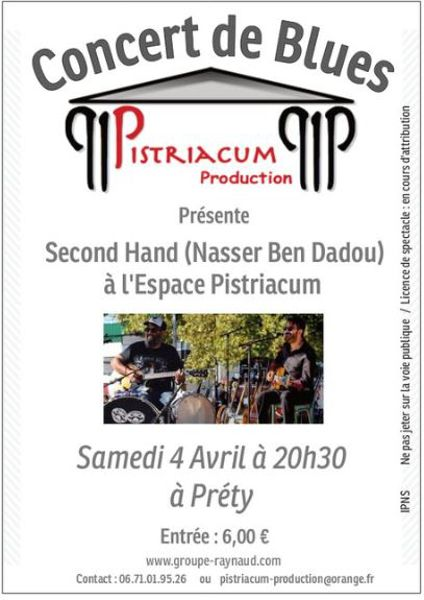 Concert de Blues : Second Hand