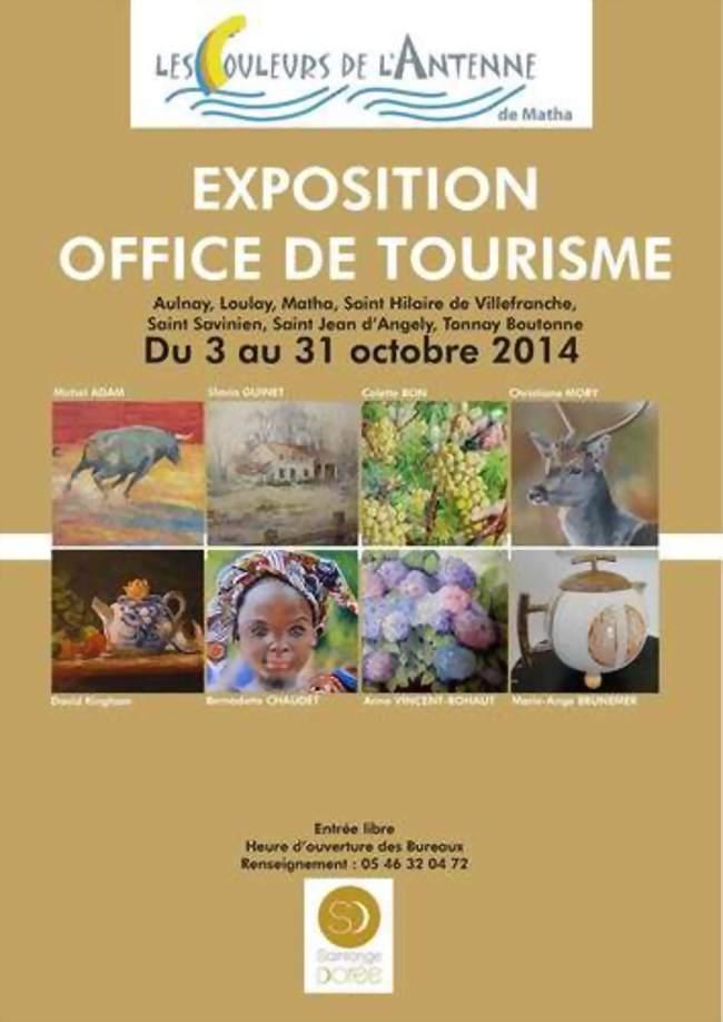 Exposition tableaux les couleurs de l 39 antenne saint jean - Office de tourisme saint jean d angely ...