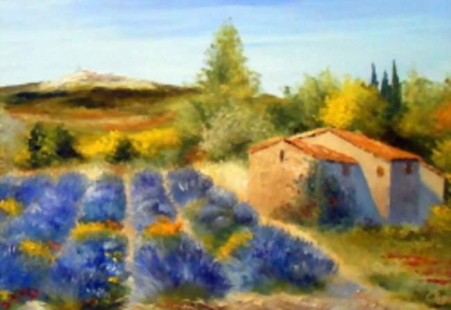 Dans la lumiere du sud la provence par jean marie for Peinture du liberon
