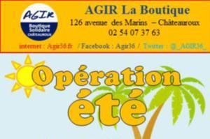 opération été (Boutique Solidaire AGIR)