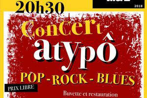CONCERT Atypô Pop rock blues