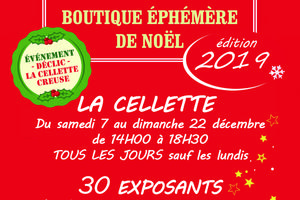 BOUTIQUE EPHEMERE DE NOËL La Cellette 30 exposants,  du 7 au 22 décembre 2019