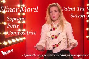 Concert Elinor Morel Talent The Voice Saison 9 Soprano Poète Compositrice