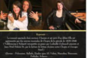 concert -spectacle Sand et Chopin, le Duo Mythique , piano Solo