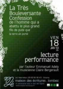 LECTURE-PERFORMANCE EMMANUEL ADELY ET CLAIRE BERGERAULT