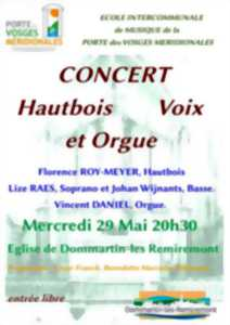 CONCERT D'ORGUE, HAUTBOIS ET CHANT LYRIQUE