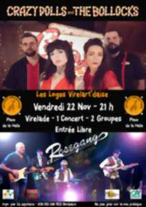 Concert Rosegang + Crazy Dolls and the bollocks à Virelade