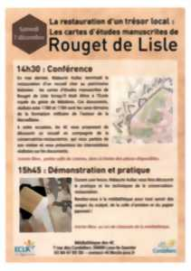 LA RESTAURATION D'UN TRÉSOR LOCAL : LES CARTES D'ÉTUDES MANUSCRITES DE ROUGET DE LISLE
