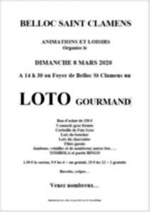 LOTO GOURMAND DE BELLOC SAINT CLAMENS