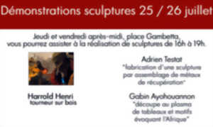 Démonstrations de Sculptures