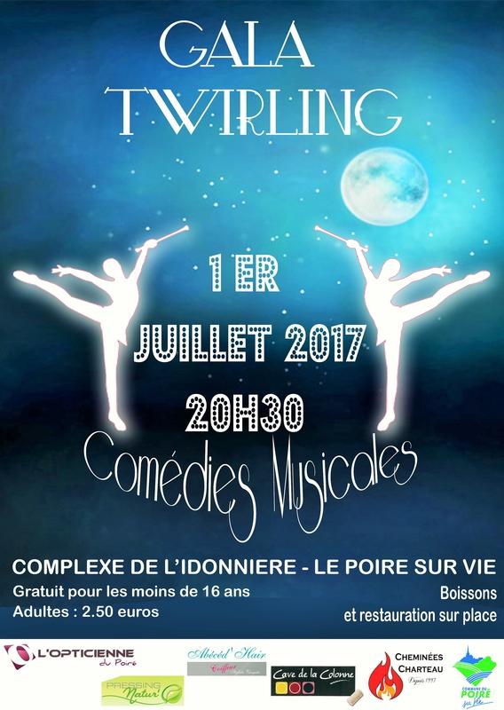 Vend e manifestation culturelle gala de la ja twirling for Piscine poire sur vie